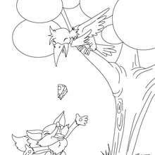 dessin à colorier d'une fourmi