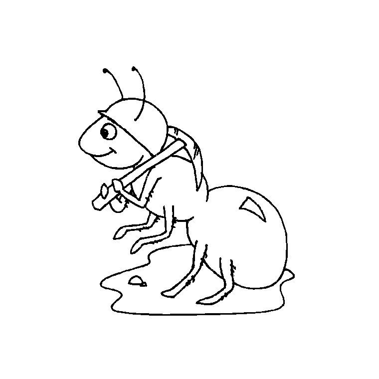 Coloriage dessiner cigale fourmi - Comment dessiner une fourmi ...