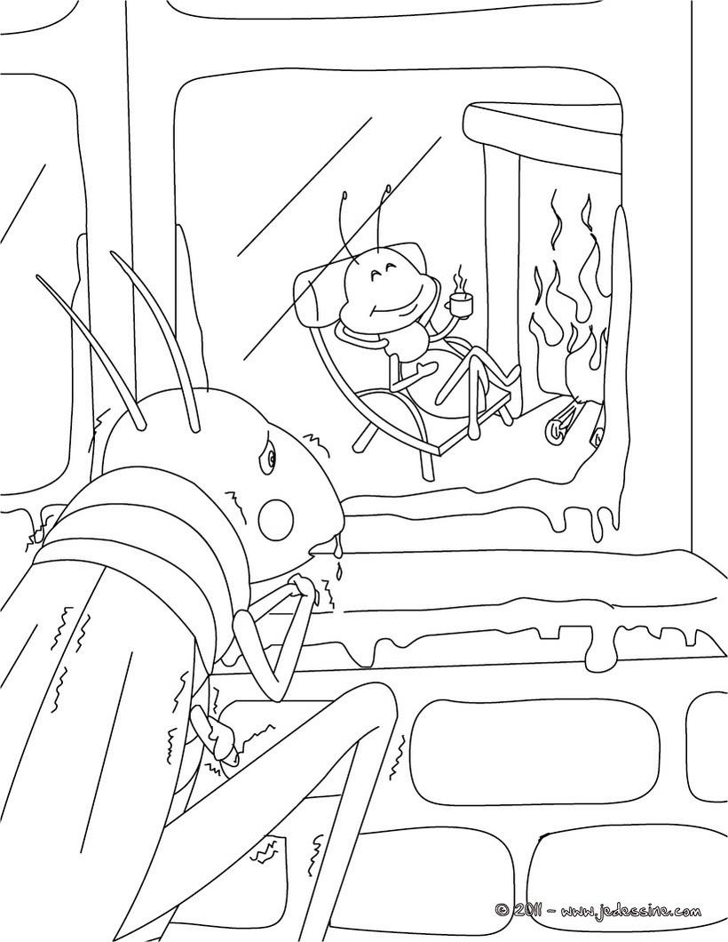 Coloriage dessiner d 39 une fourmi - Dessin d une fourmi ...