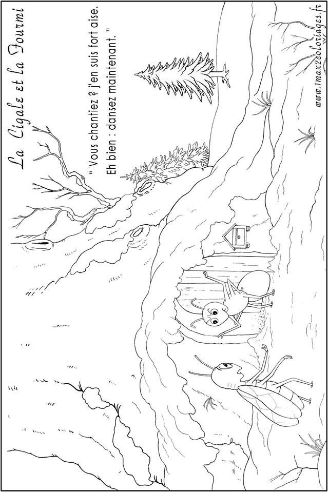 Coloriage dessiner lucas fourmi - Dessin la cigale et la fourmi ...