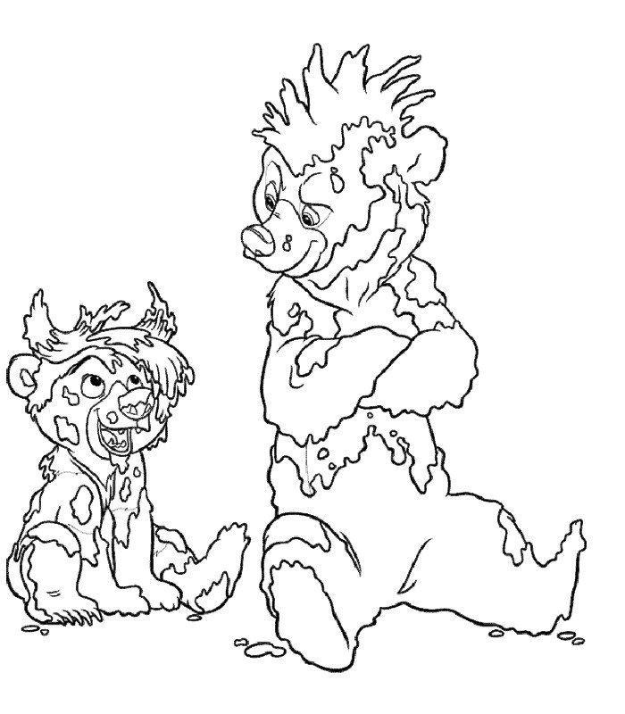 dessin � colorier frere des ours 2