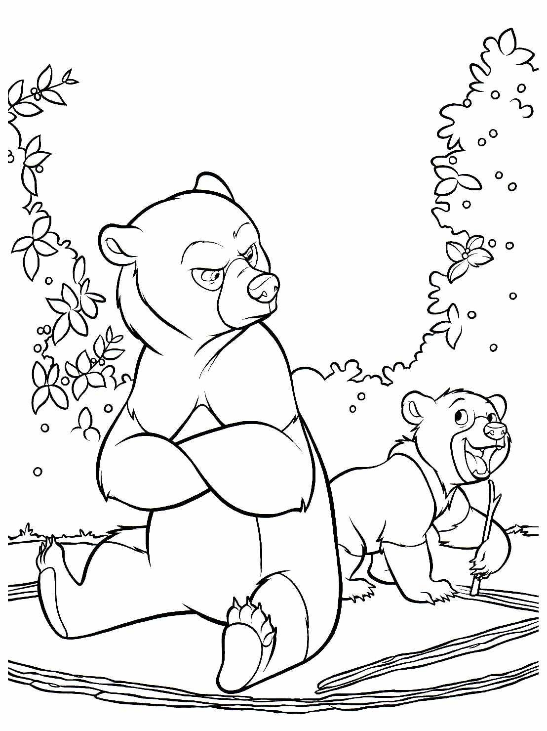 dessin � colorier � imprimer frere des ours