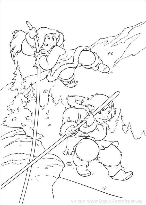 coloriage en ligne frere des ours