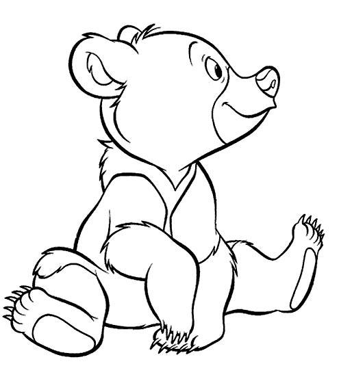 dessin � colorier gratuit frere des ours