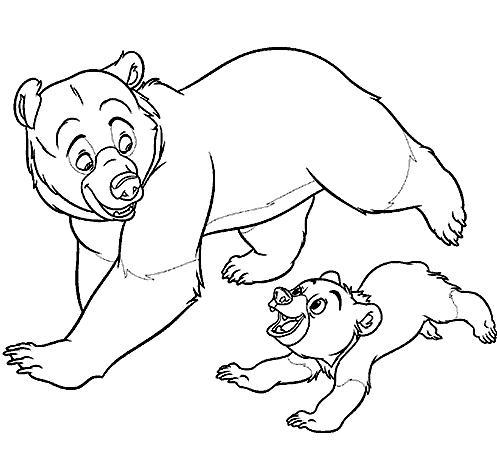 coloriage � dessiner frere des ours a imprimer