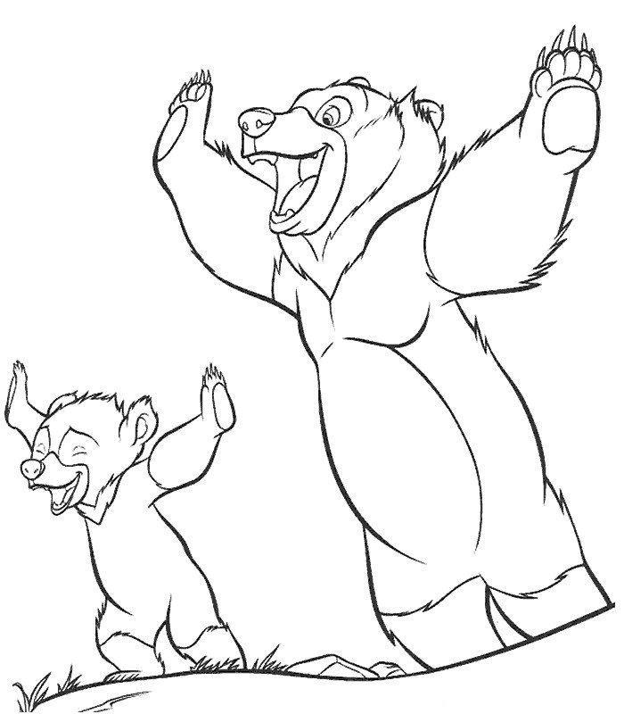 Coloriage de frere des ours - Coloriage de ours ...