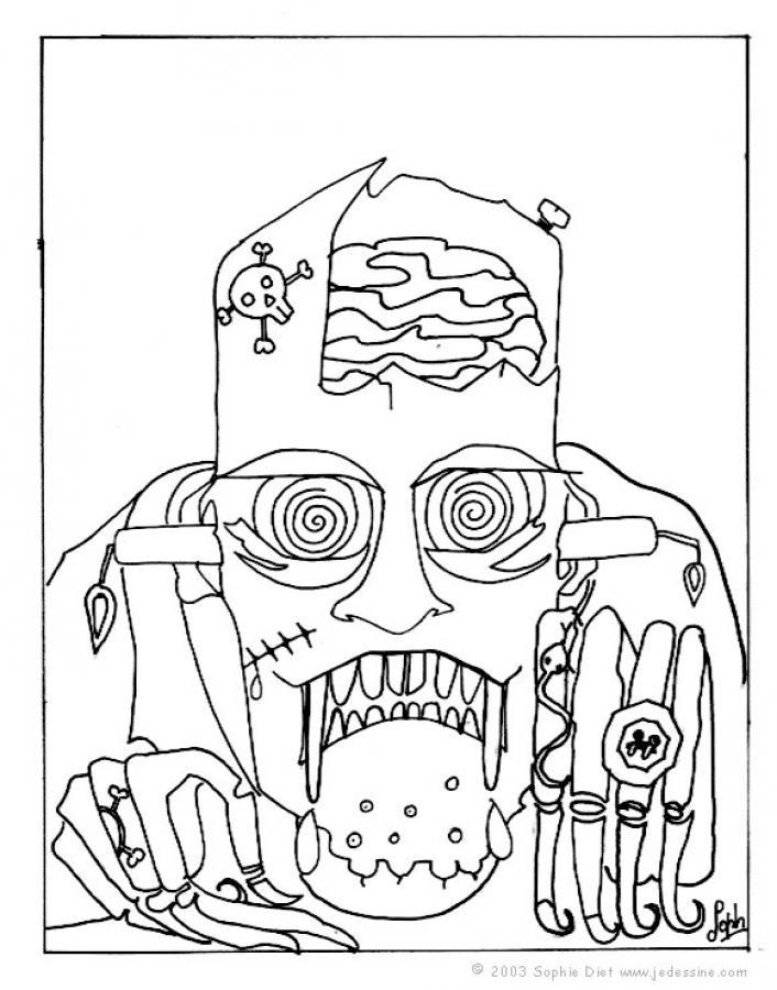 dessin à colorier frankenweenie