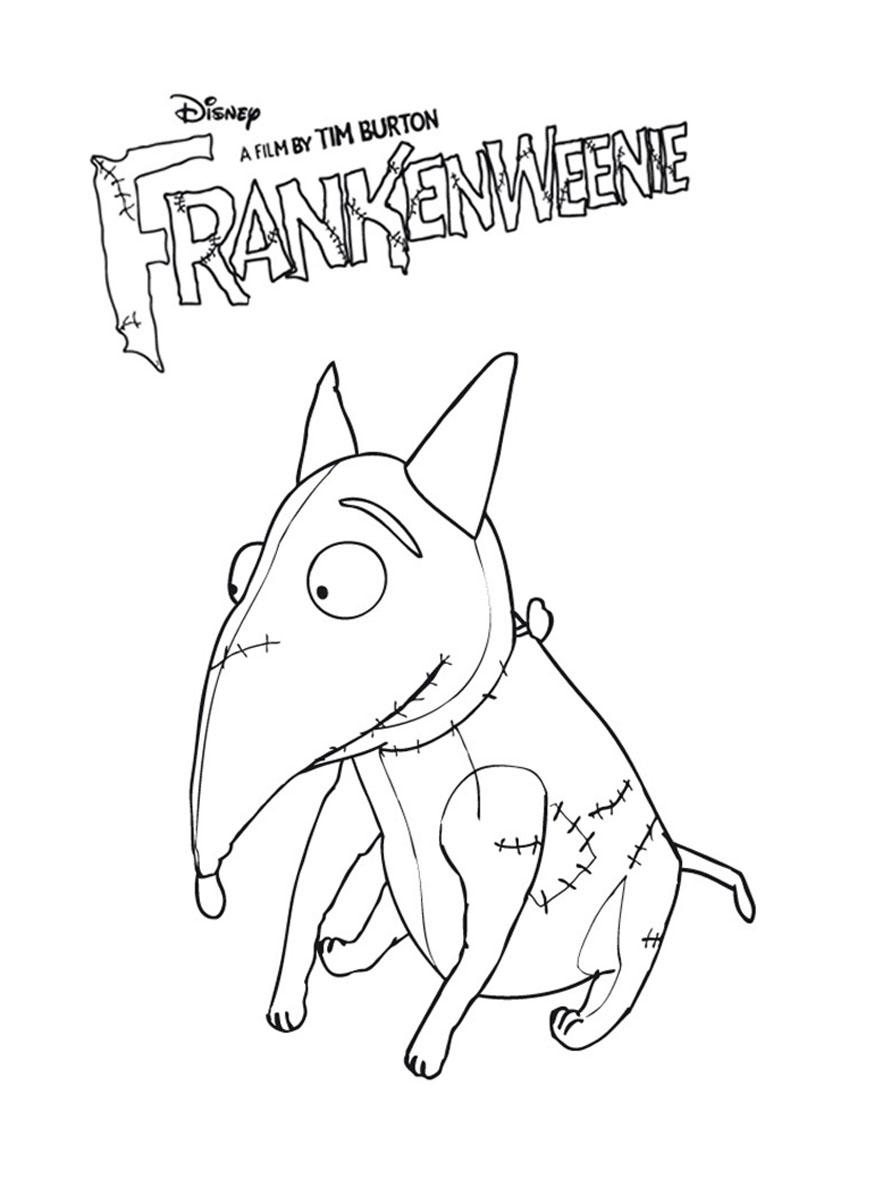 dessin à colorier de frankenweenie