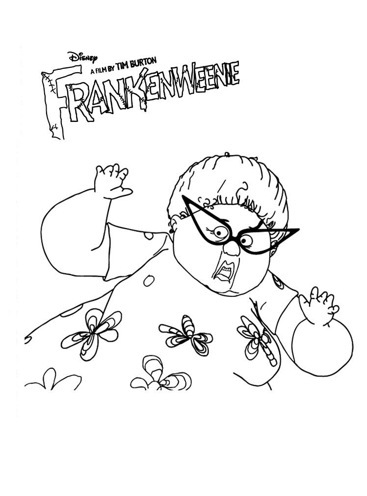 coloriage de frankenweenie
