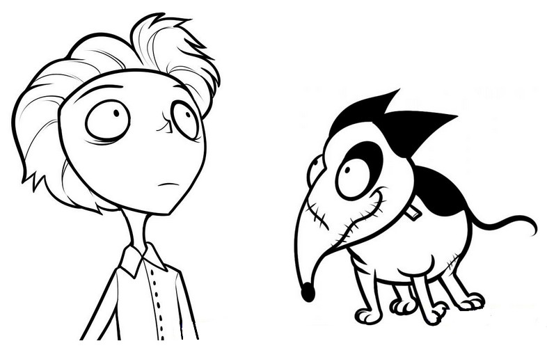 coloriage à dessiner frankenweenie