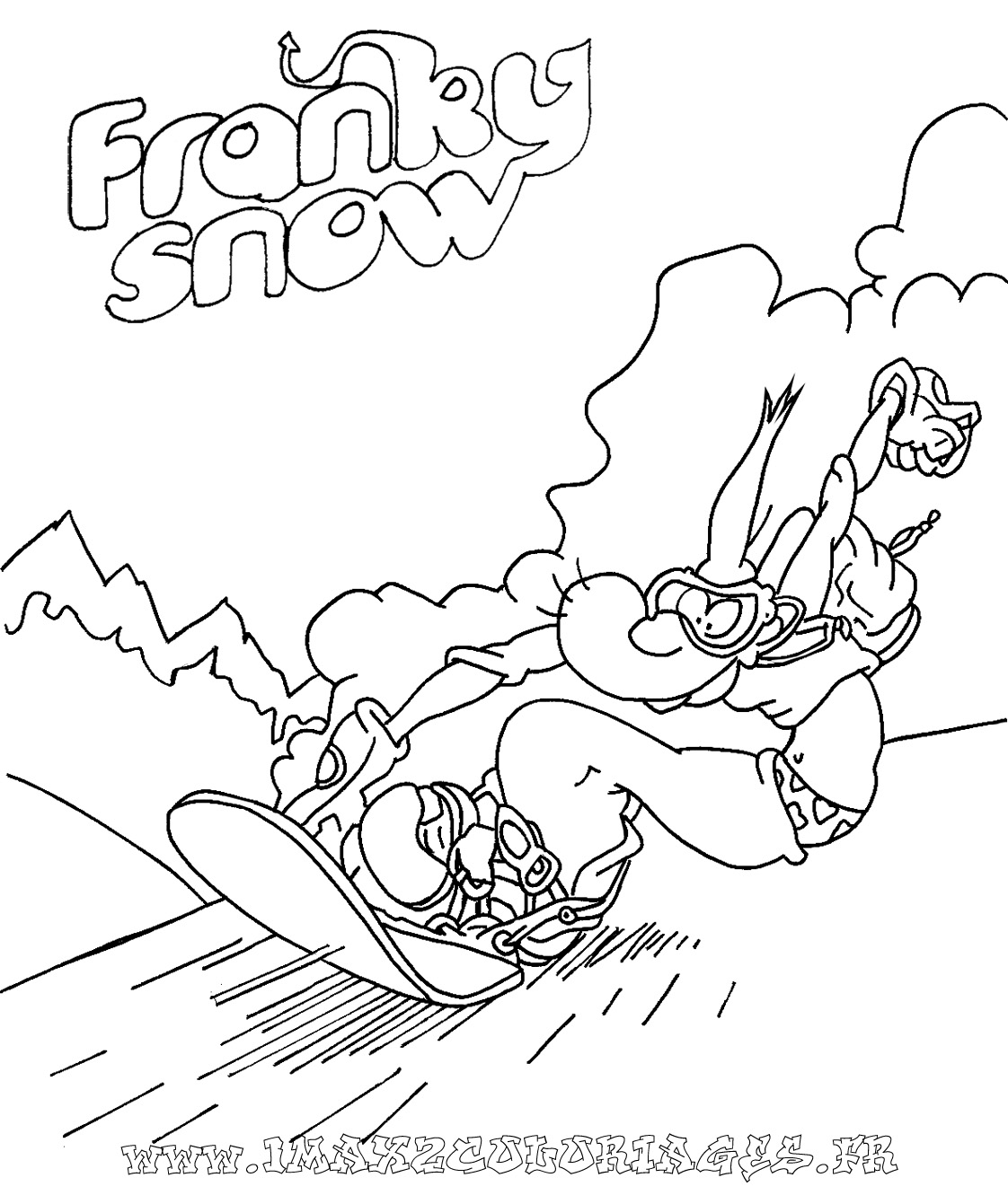 coloriage à dessiner franky snow