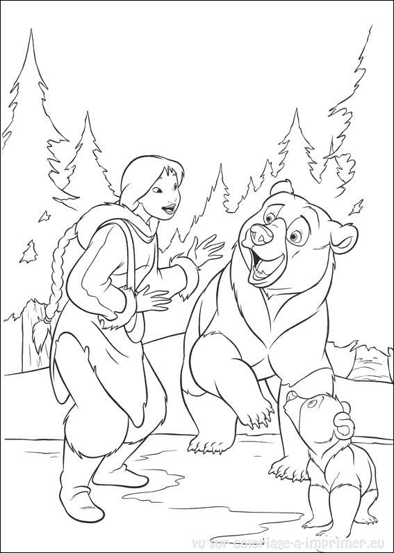 dessin � colorier en ligne frere des ours