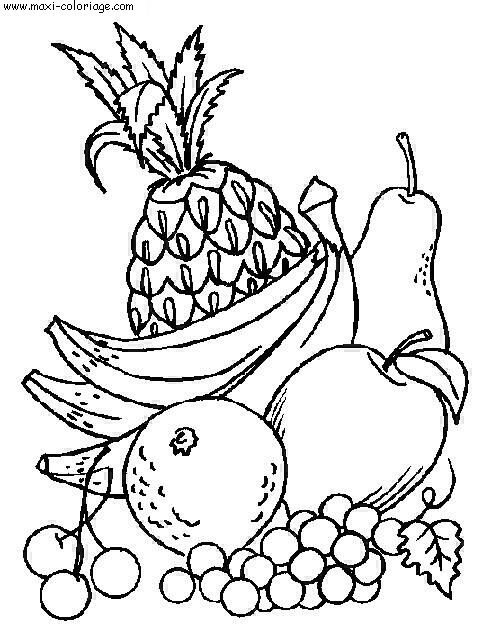 Fruit Dessin 99 dessins de coloriage fruit et legume à imprimer