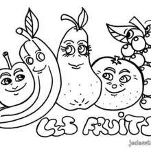 Dessin à Colorier Fruits D Automne Maternelle