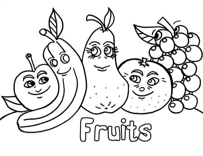 Coloriage Maternelle Fruits Et Legumes.Dessin Fruits Et La C Gumes Maternelle