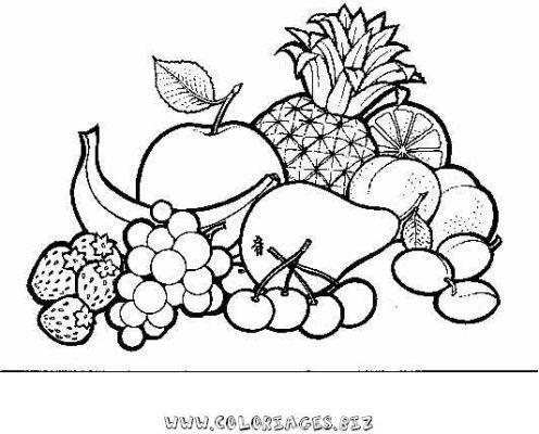Coloriage fruits des antilles - Dessins fruits ...