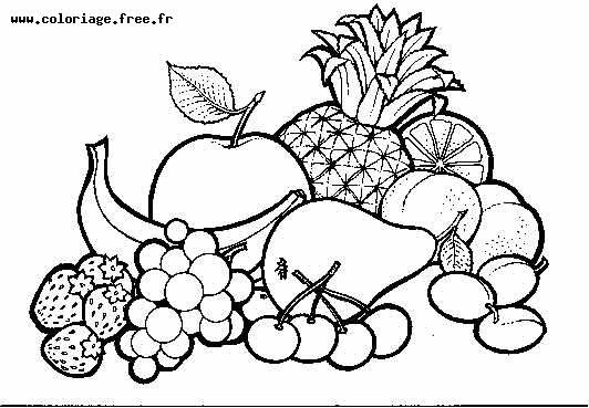 Coloriage fruits legumes automne - Fruits coloriage ...
