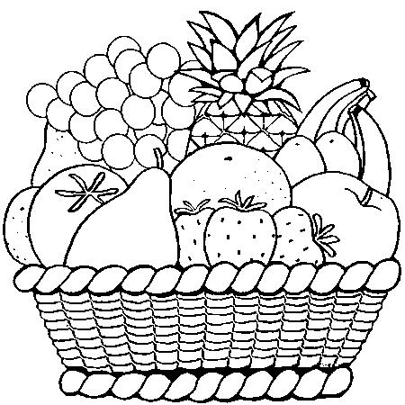 Coloriage Fruits Legumes Automne