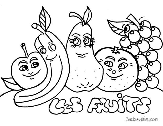 Coloriage Fruit Petite Section