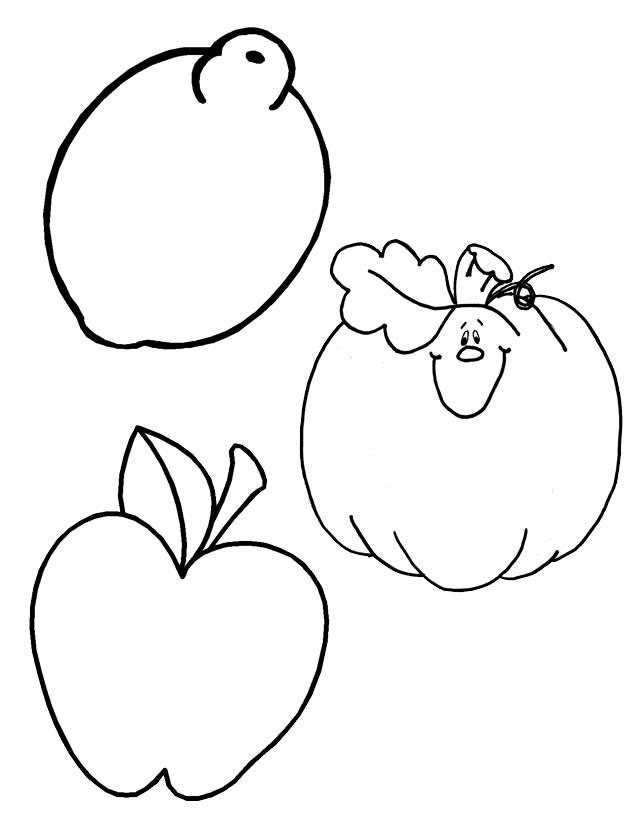 coloriage fruit et legume d'automne