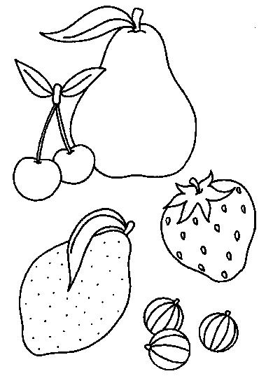 Fruit Dessin 96 dessins de coloriage fruits et légumes rigolos à imprimer