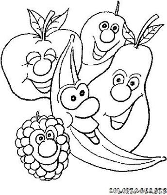 96 dessins de coloriage fruits et l gumes rigolos imprimer - Fruits a colorier et a imprimer ...
