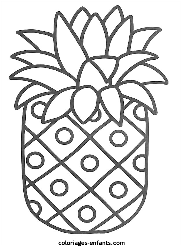 87 dessins de coloriage fruits exotiques imprimer - Fruits coloriage ...
