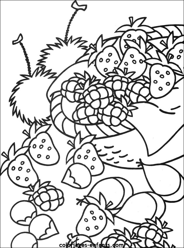 87 dessins de coloriage fruits exotiques imprimer - Dessins fruits ...