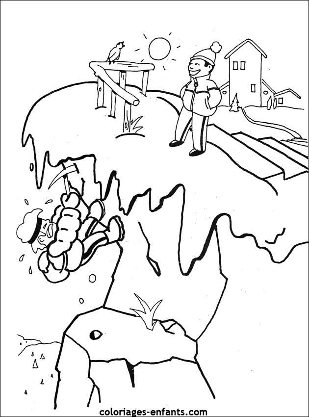 dessin à colorier de furet a imprimer