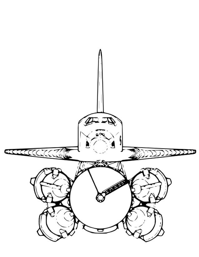 dessin fusée spatiale