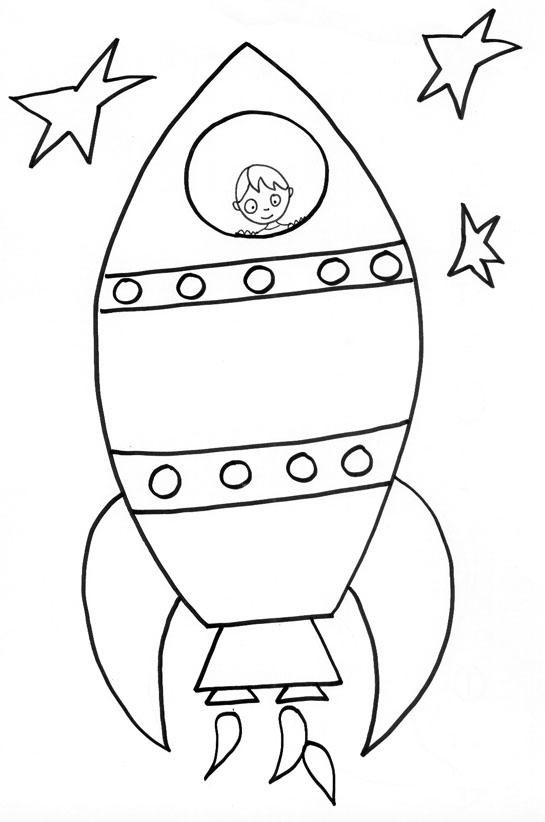 dessin fusée coloriage