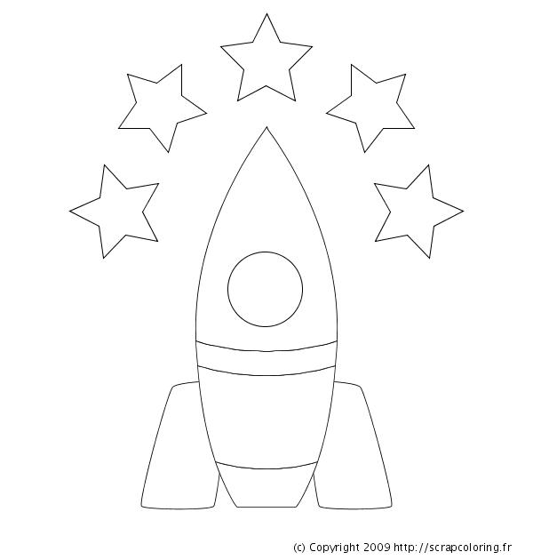 coloriage de fusée en ligne