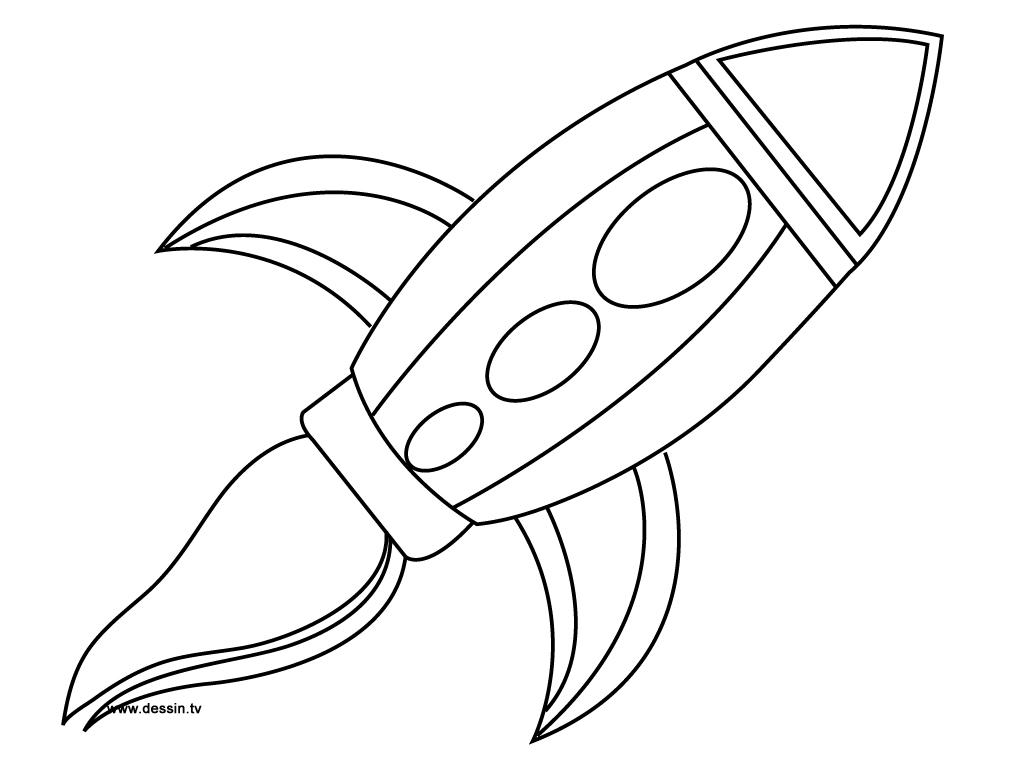 coloriage fusée dans l'espace