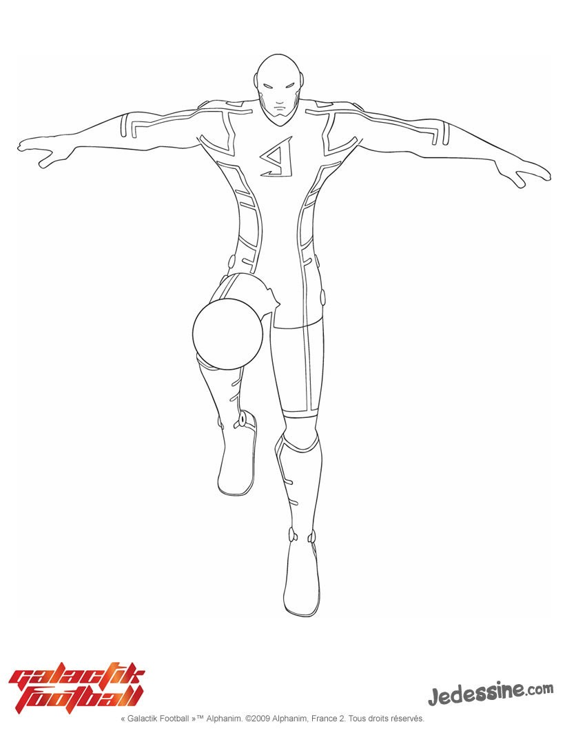 coloriage galactik football en ligne