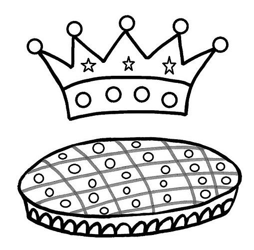 galette des rois coloriage à dessiner