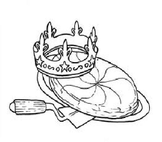 coloriage à dessiner galette des rois ps