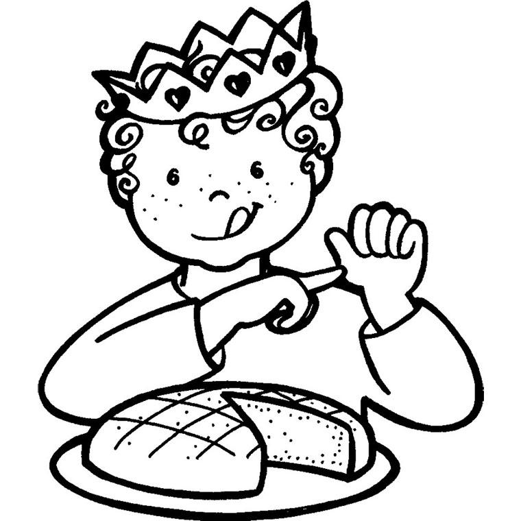coloriage à dessiner galette des rois gratuit