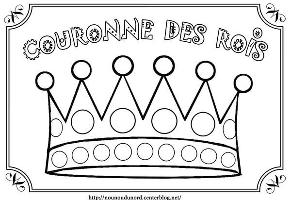 dessin à colorier galette des rois gratuit à imprimer