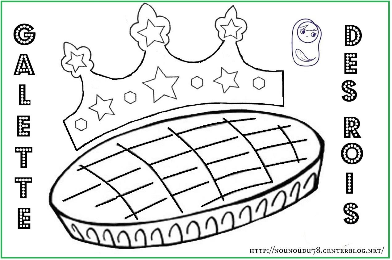 coloriage galette des rois à imprimer