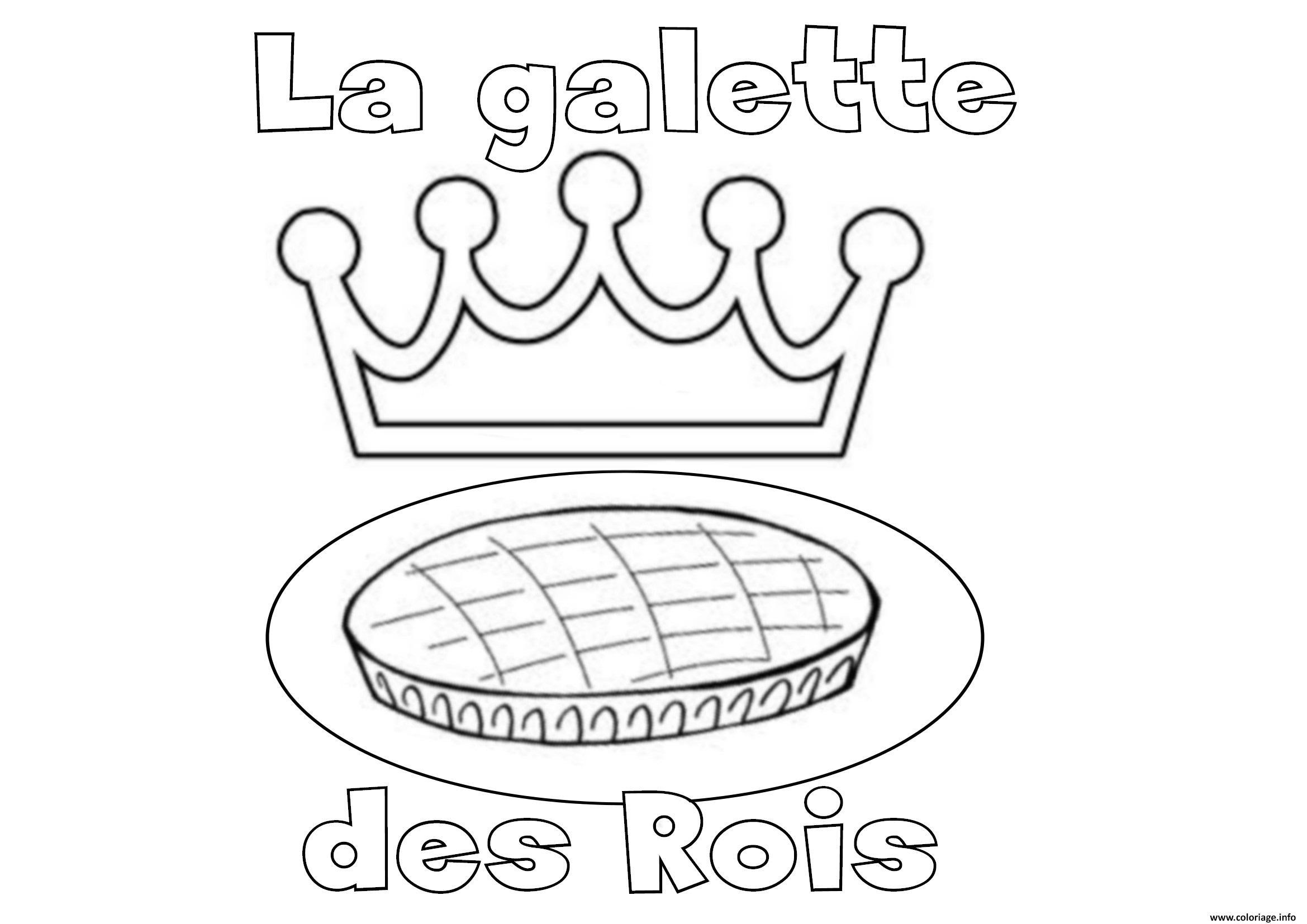 32 Dessins De Coloriage Galette Des Rois A Imprimer