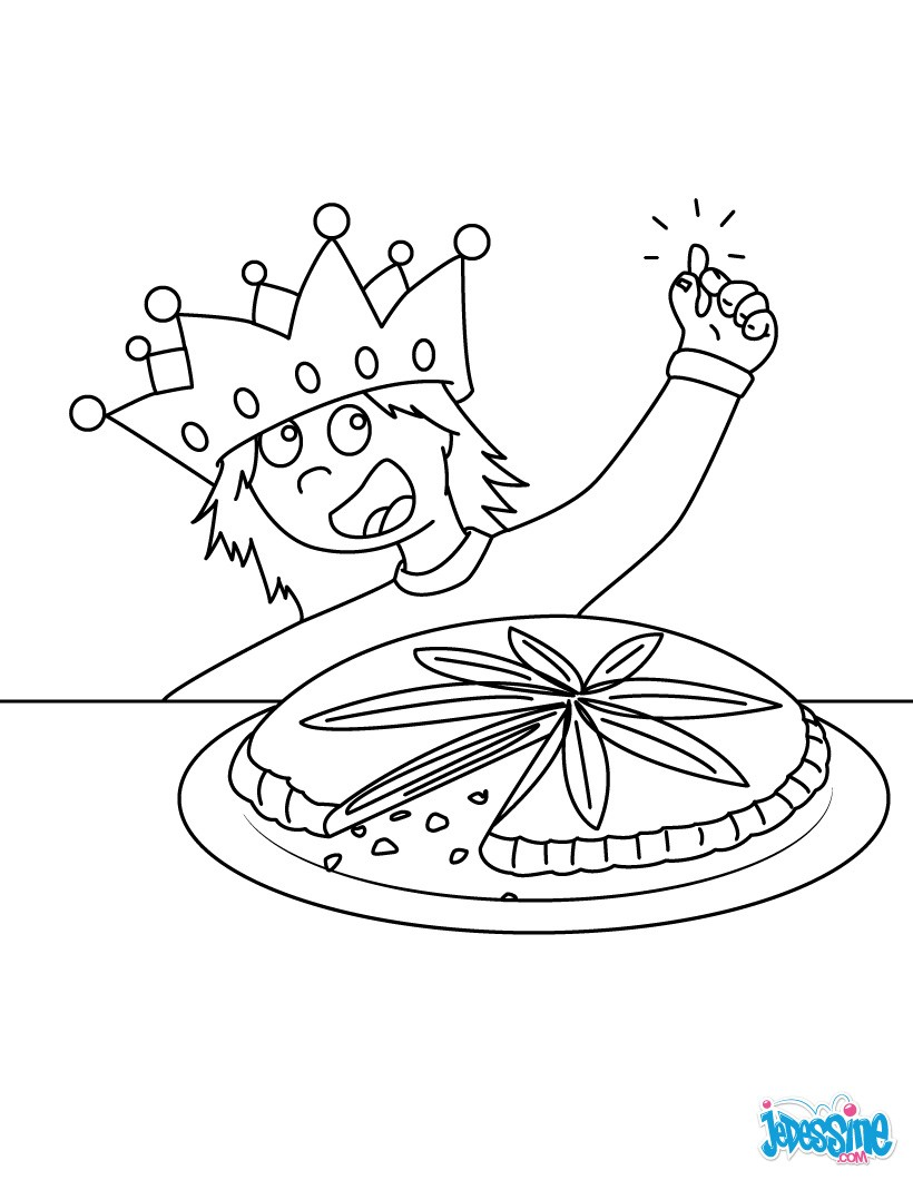 dessin à colorier galette des rois petite section