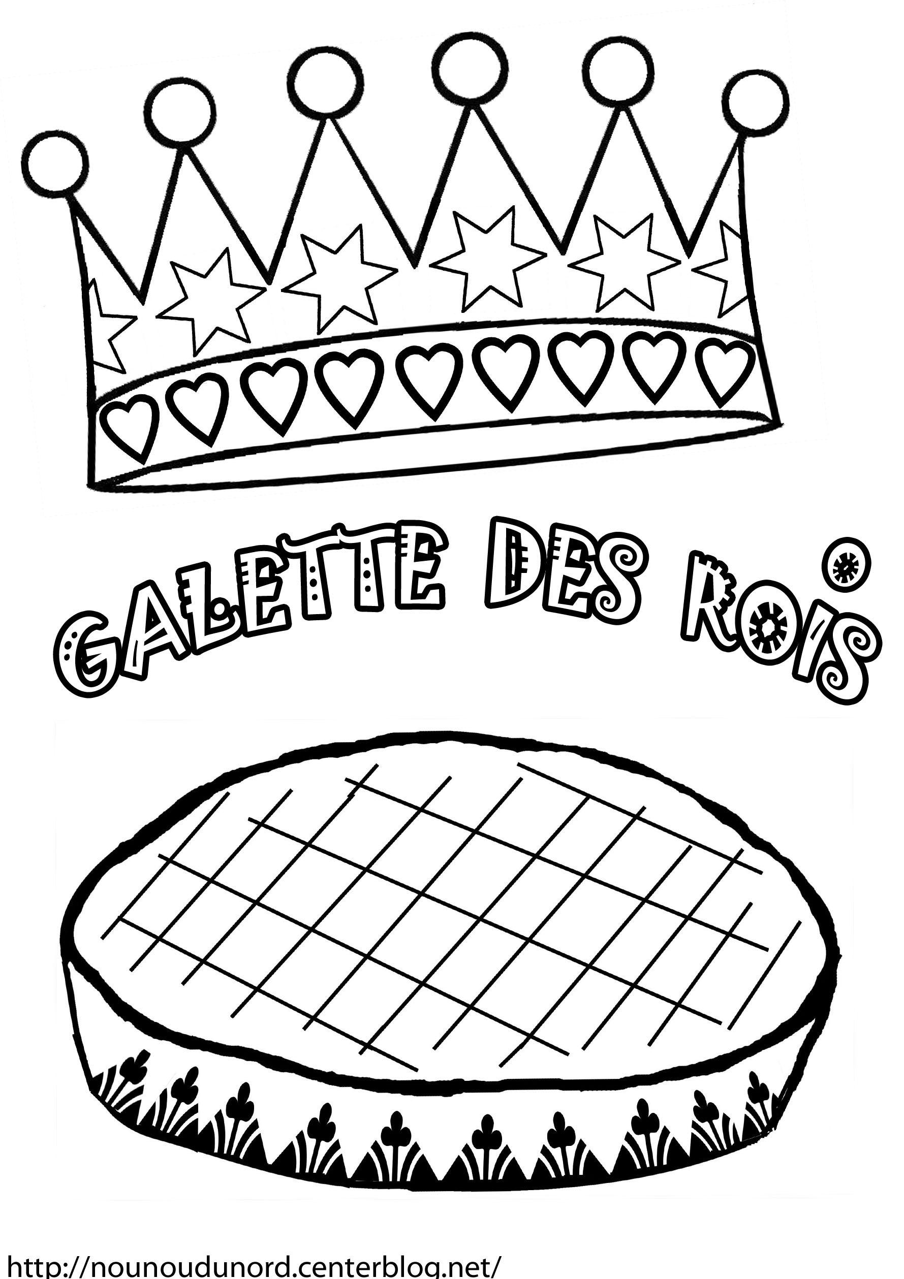 dessin à colorier galette des rois à imprimer