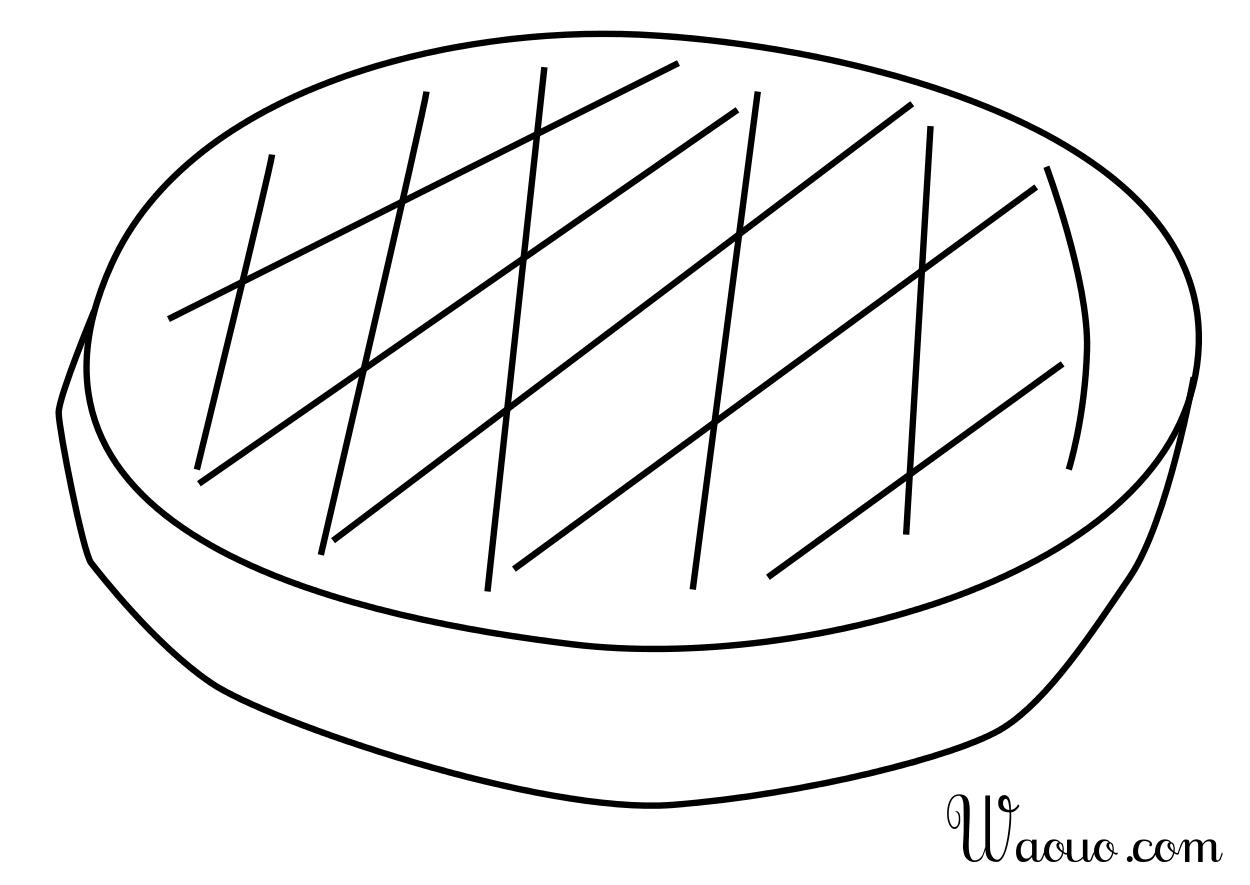 coloriage à dessiner codé galette des rois
