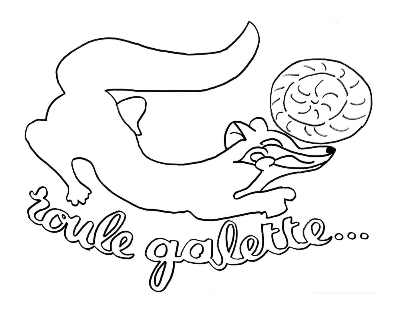 Coloriage204 coloriage roule galette - Coloriage roule galette maternelle ...
