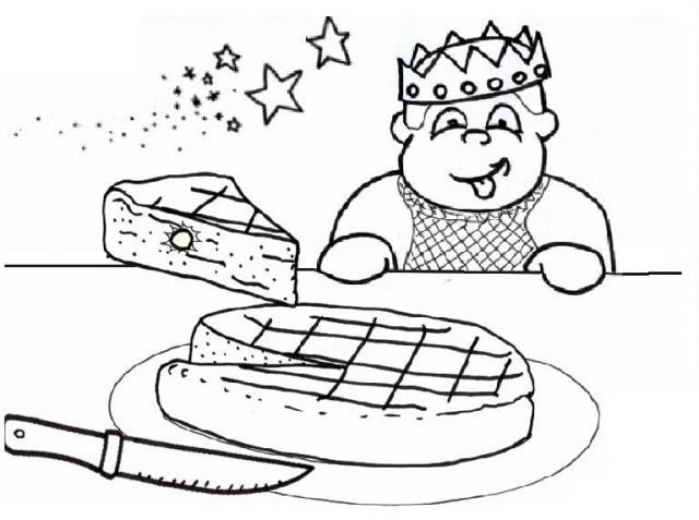 dessin en ligne galette des rois