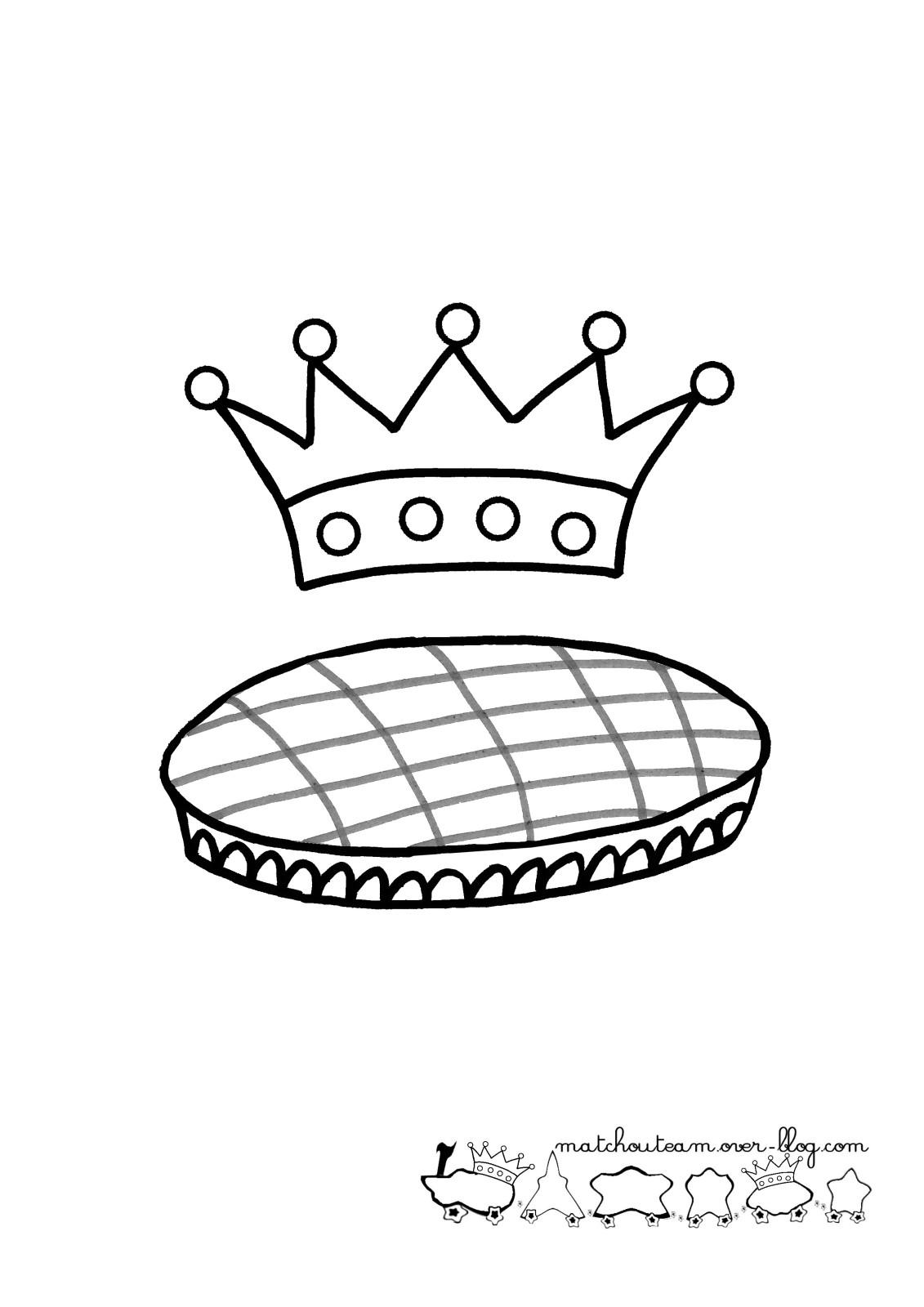 dessin à colorier galette des rois gratuit