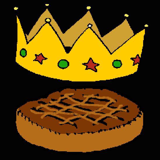dessin à colorier galette des rois hugo l'escargot