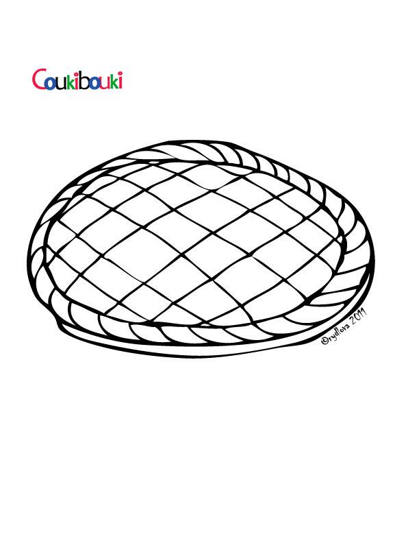 dessin à colorier galette des rois maternelle à imprimer