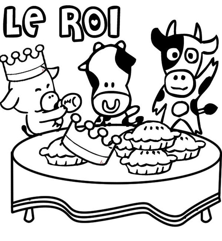 Coloriage galette des rois couronne - Coloriage galette ...