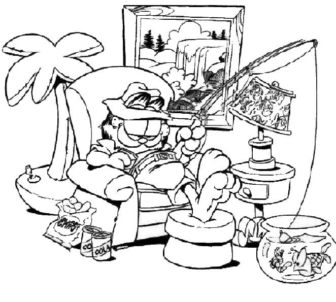 dessin garfield en ligne
